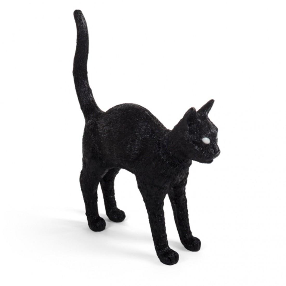 Lampe à poser Chat Félix Noir Seletti