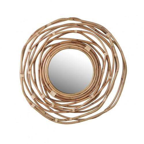 Miroir en rotin Kubu - Dutchbone