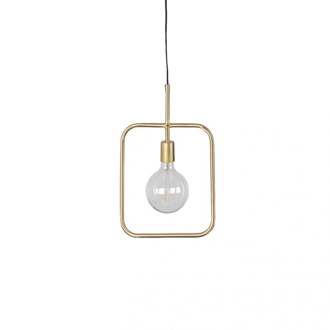Suspension industrielle Cubo finitions dorées - Dutchbone