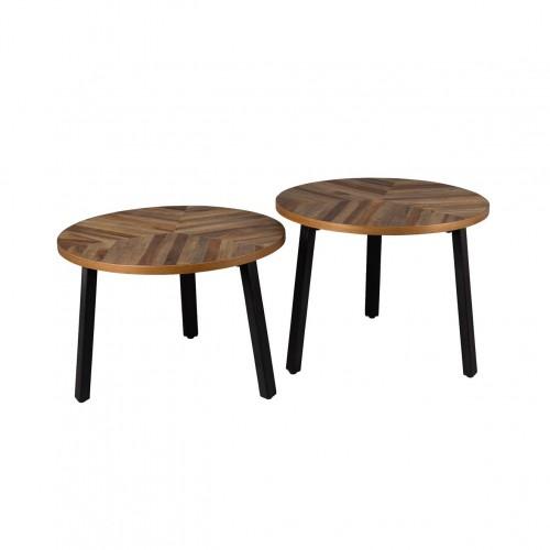 Lot de 2 tables en bois Mundu - Dutchbone