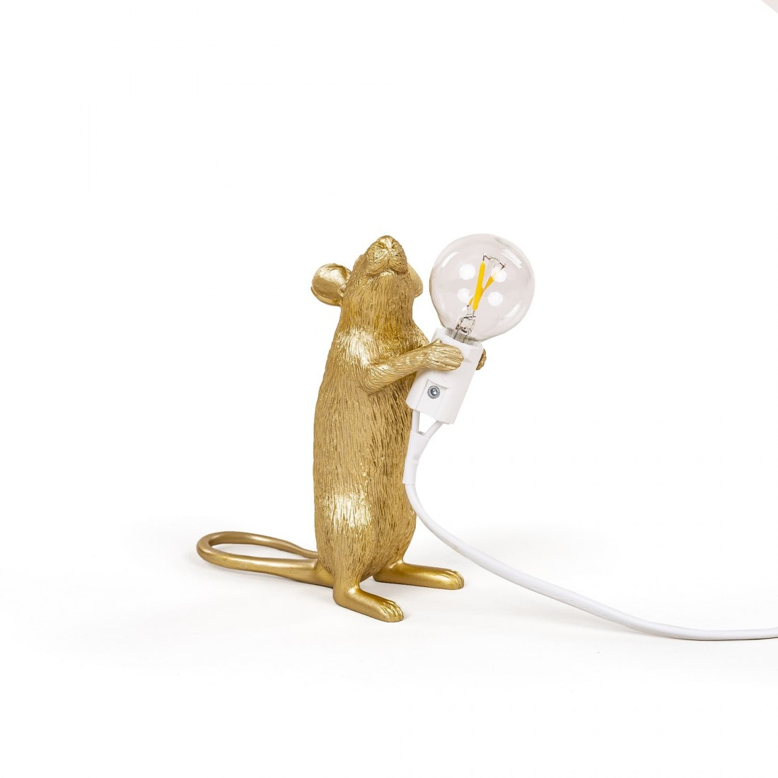 Lampe à poser Mouse Souris Gold Standing Seletti