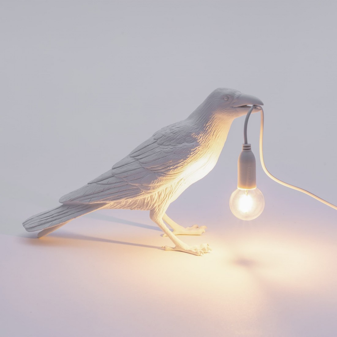 Lampe à poser Bird Waiting blanche Seletti