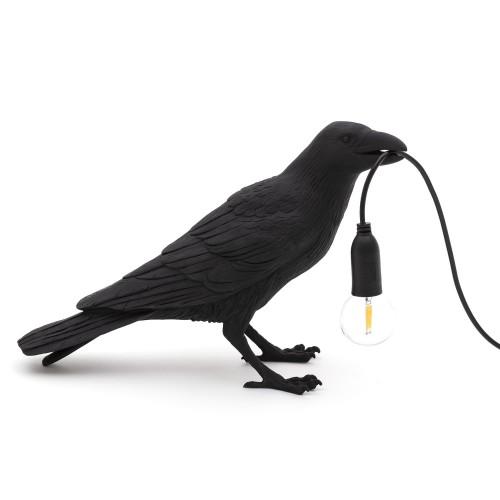 Lampe à poser Bird Waiting noire Seletti