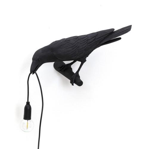 Applique Bird Looking noire Seletti