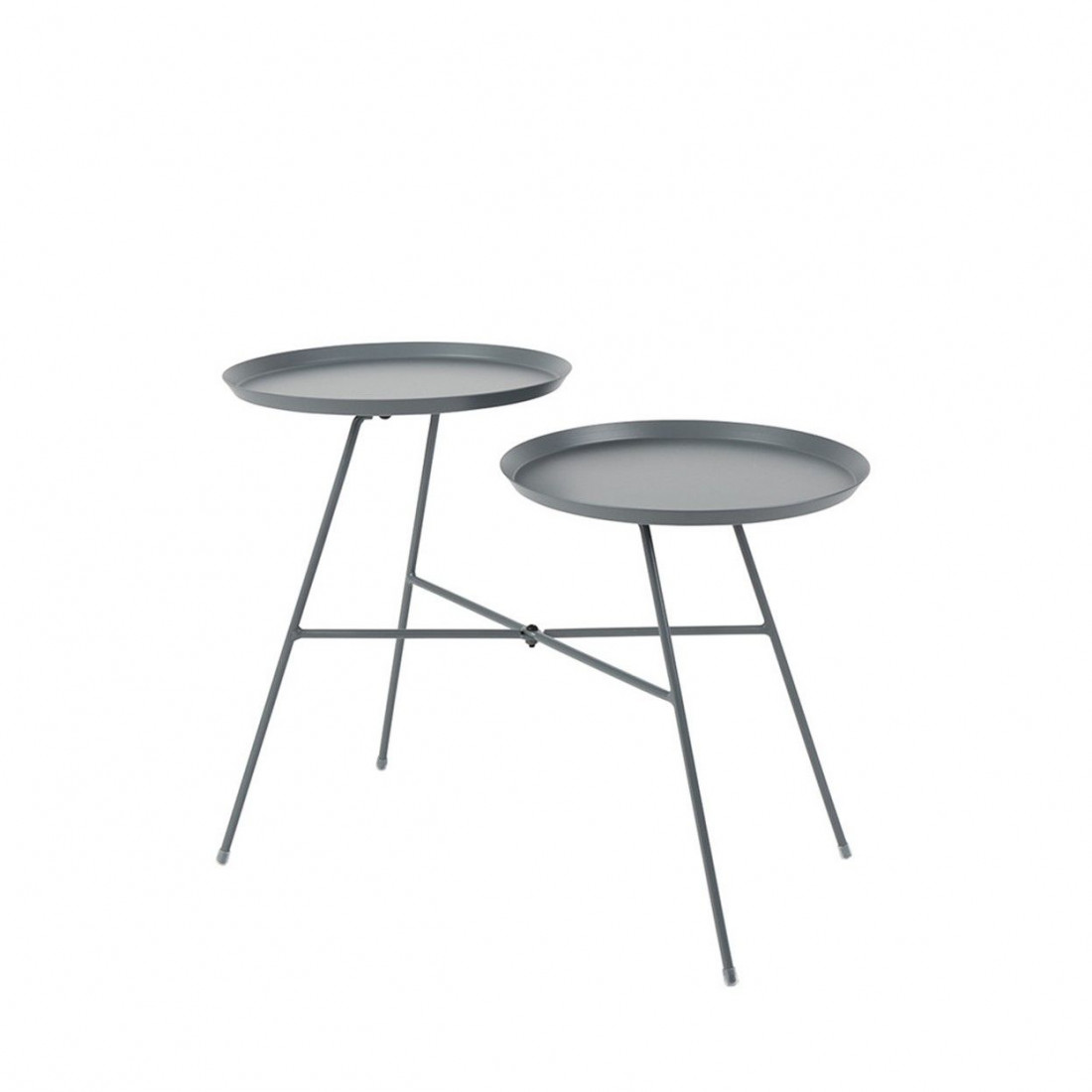 Table d'appoint Indy Grise White Label Living