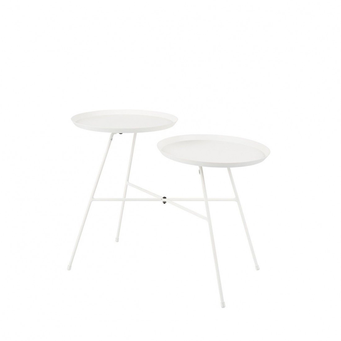 Table d'appoint Indy Blanche White Label Living