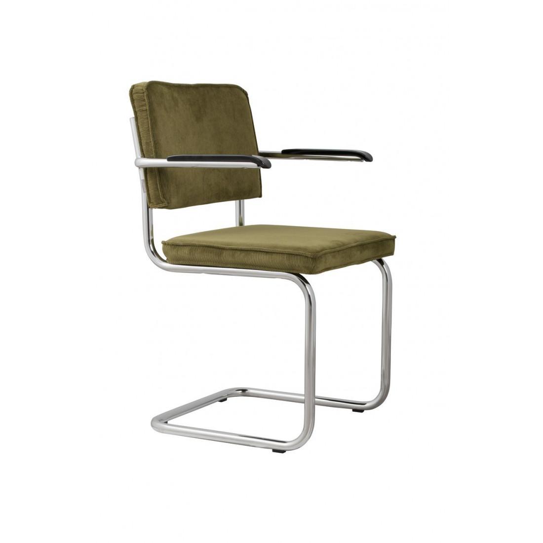 Chaise de Bureau velours côtelé vert 25A Zuiver