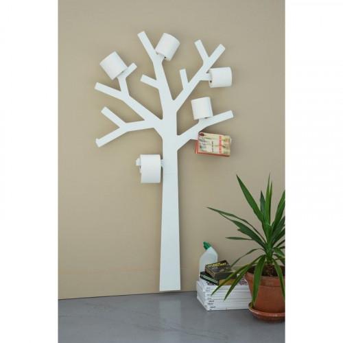 Arbre porte-rouleau papier WC PQTIER BLANC- PRESSE-CITRON -