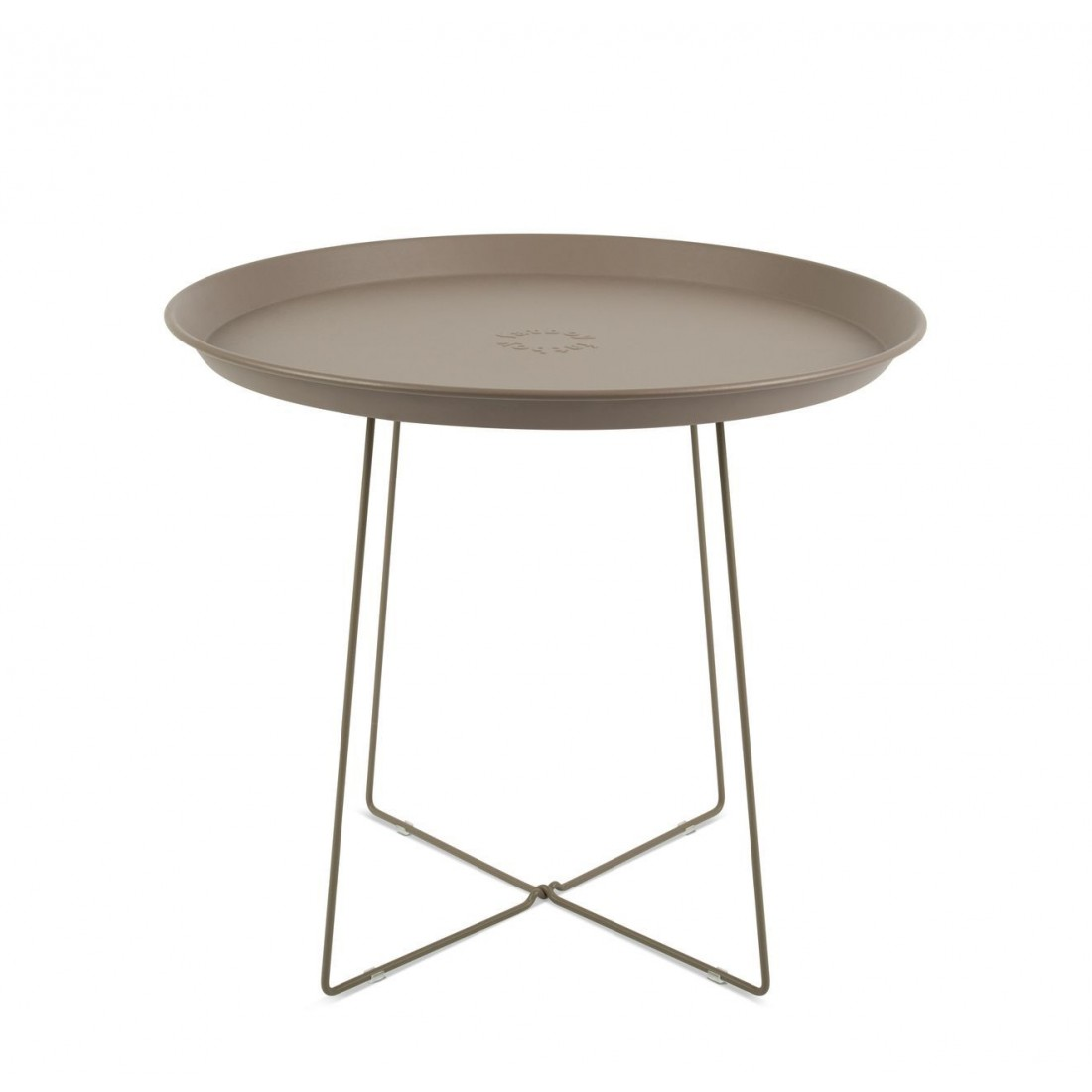 Table Basse Plat-O Taupe Outdoor Fatboy