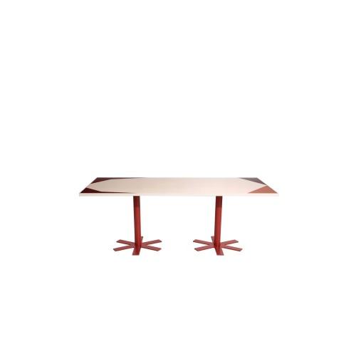 Grande Table Parrot à motif rose Petite Friture