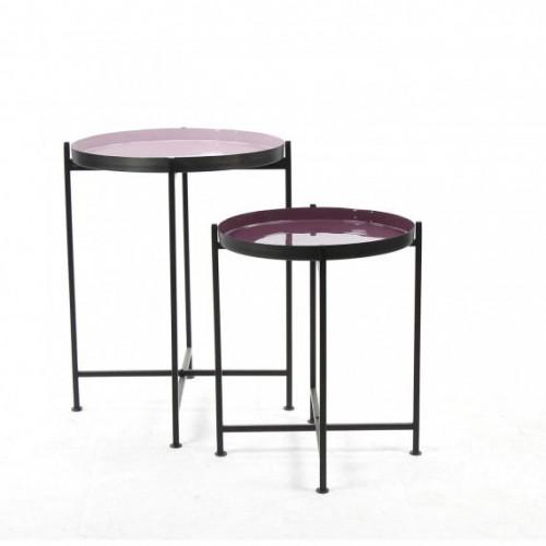 Table d'appoint Favorit' Pomax 38/44 X H 48/60 cm