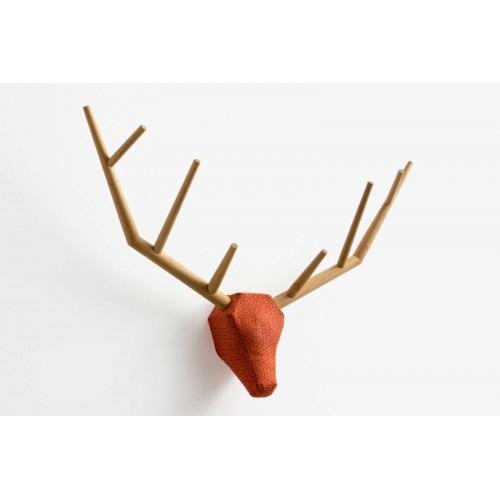 """Trophée de chasse """"yy"""" en chêne  Klybeck"""