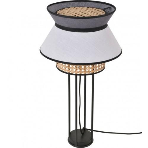 Lampe à poser SINGAPOUR blanc et gris H59 x Ø30 cm - MARKET SET
