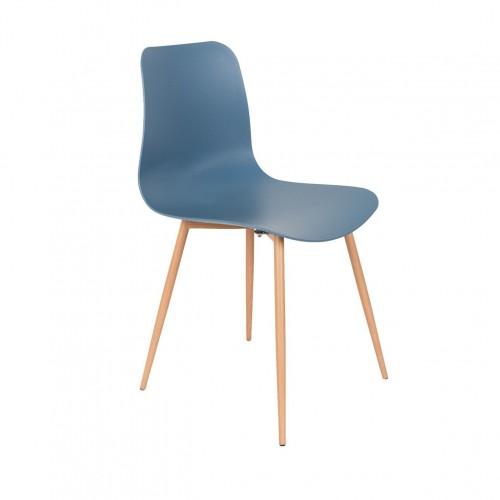 chaise Leon bleu White Label