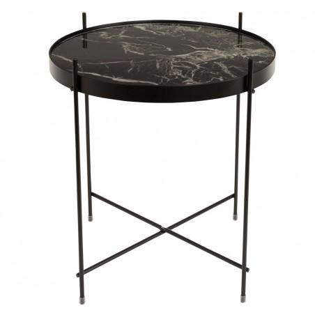 side table cupid marble noir zuiver. Black Bedroom Furniture Sets. Home Design Ideas