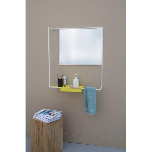 Miroir romi blanc metal design fran ais presse citron for Miroir horizontal blanc