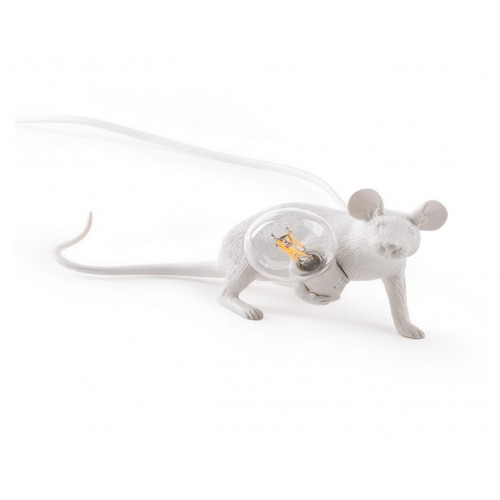 "Lampe à Poser Mouse Blanc "" Lying down"" Seletti"