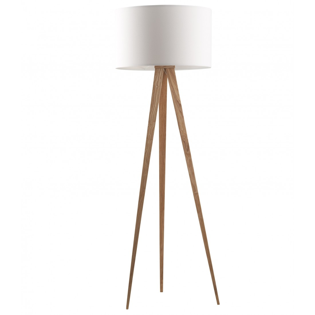 lampadaire tr pied tripod wood white blanc pieds bois. Black Bedroom Furniture Sets. Home Design Ideas