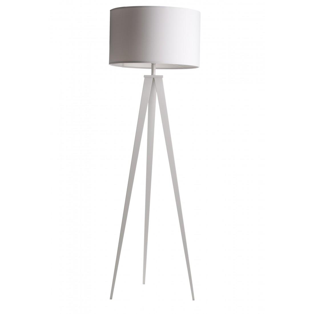 Lampadaire sur pied tripod m tal blanc design scandinave for Miroir tripod