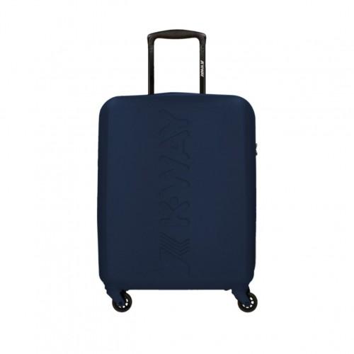 valise cabine 4 roues articul es en bleu fonc by k way r f 6bkk1g01a3 marine. Black Bedroom Furniture Sets. Home Design Ideas