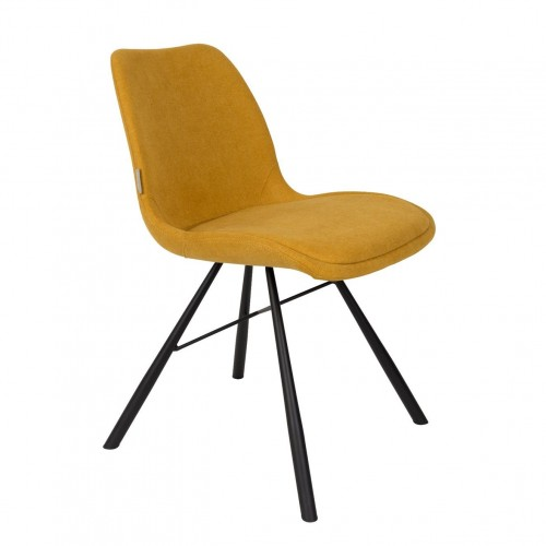 Chaise Brent Jaune Moutarde Zuiver