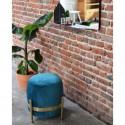 Pouf Vega Vert Canard et Laiton Eno Studio