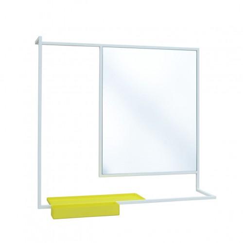Miroir romi blanc metal design fran ais presse citron r f for Miroir horizontal blanc