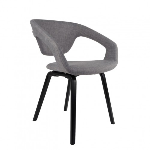 Chaise Flexback gris naturel - ZUIVER
