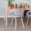 Chaise Flexback gris naturel - ZUIVER